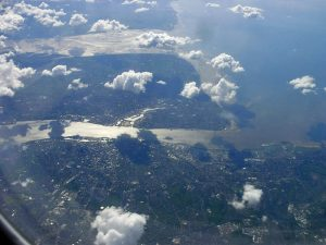 Wirral Peninsula From The Air